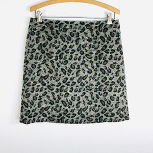Ann Taylor Loft Mini Skirt  6 Career Animal Print